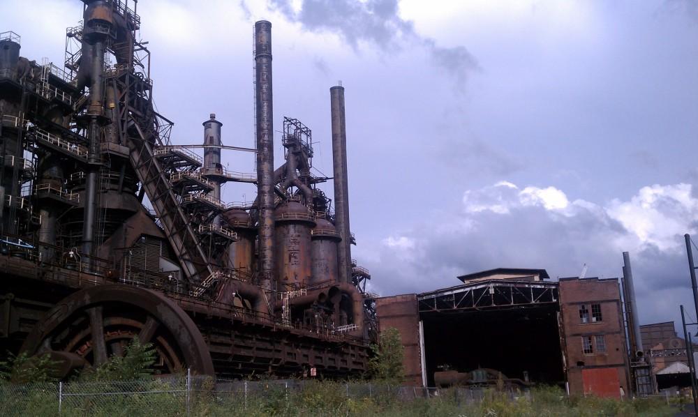 The shuttered furnaces of Bethlehem Steel in Bethehem, PA