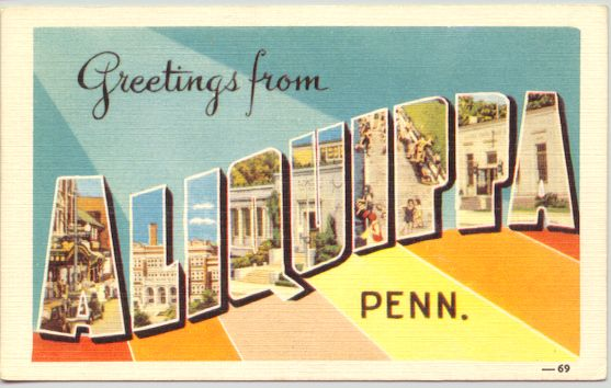 Greetings from Aliquippa Postcard